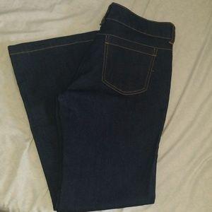 Dark Wash Flare Leg Jeans